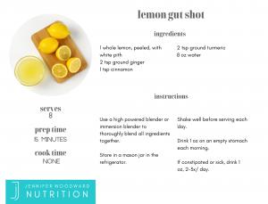 Jennifer Woodward Nutrition Lemon Gut Shot